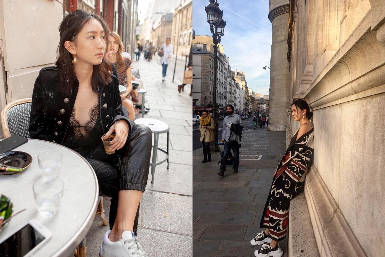 zoeyffang taiwanese girl parisian chic effortless styling inspiraiton