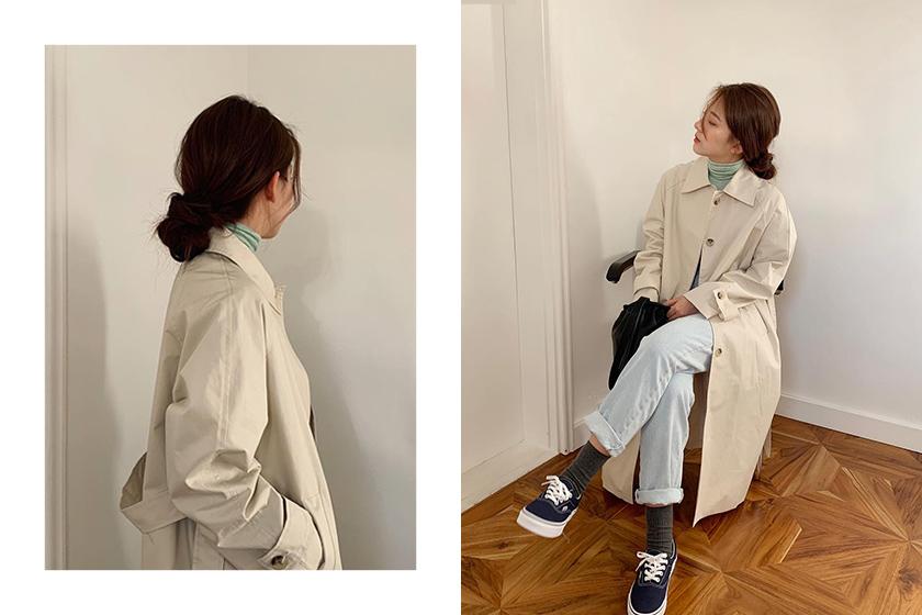 Korean Girl Low Hair Bun Easy Hairstyle trend