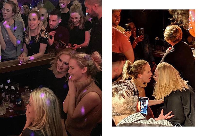 Adele Jennifer Lawrence Pieces Gay Bar drunk Celebrities BFF