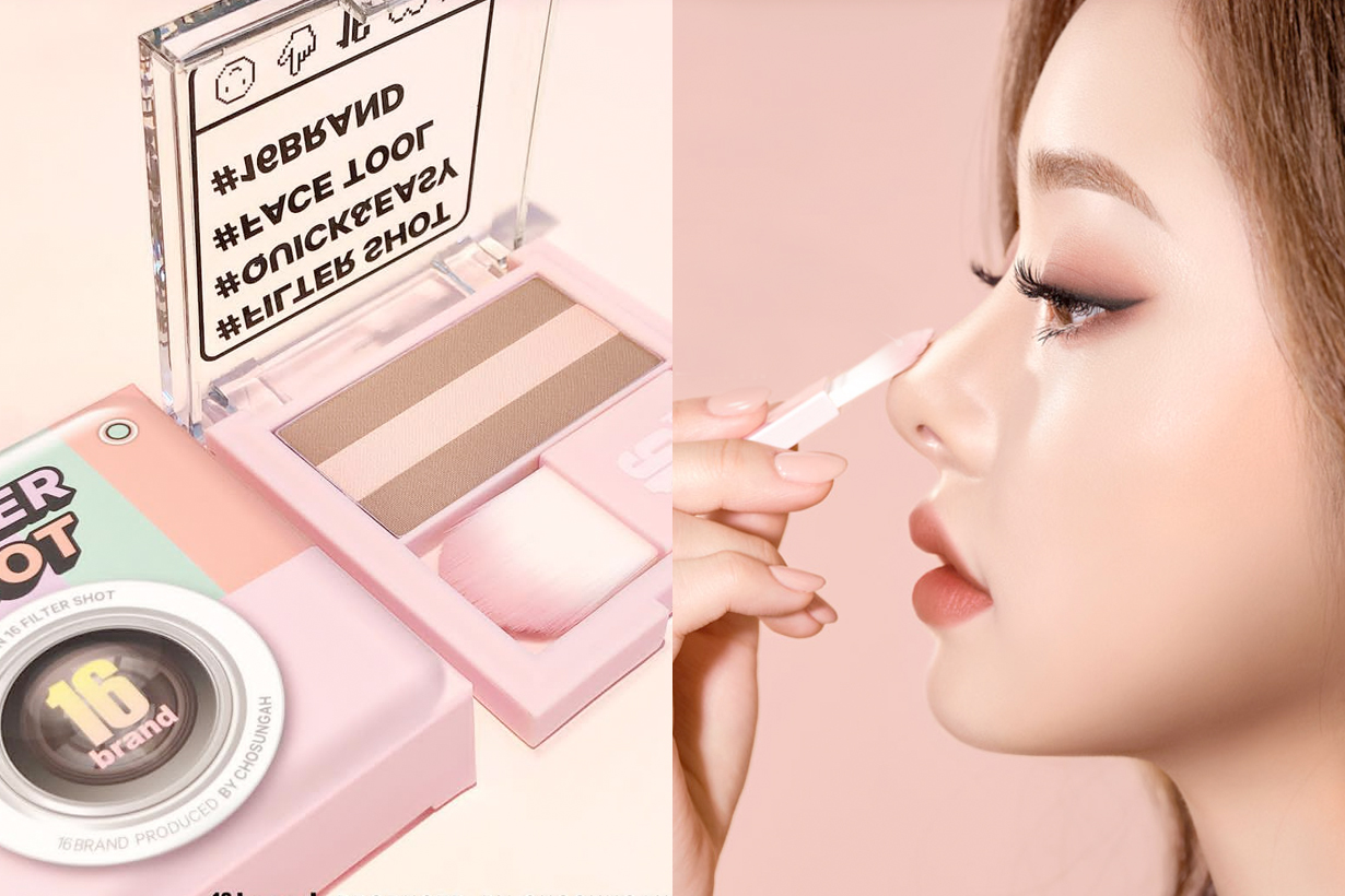 16 brand korean contour highlight makeup new
