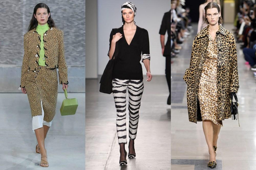 Leopard Zebra Prints Trend Runway