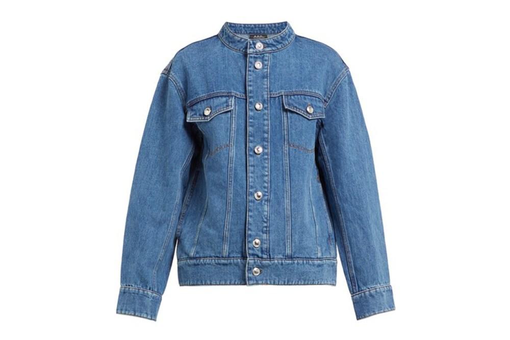 A.P.C. Bailey Drop-Shoulder Cotton-Blend Denim Jacket