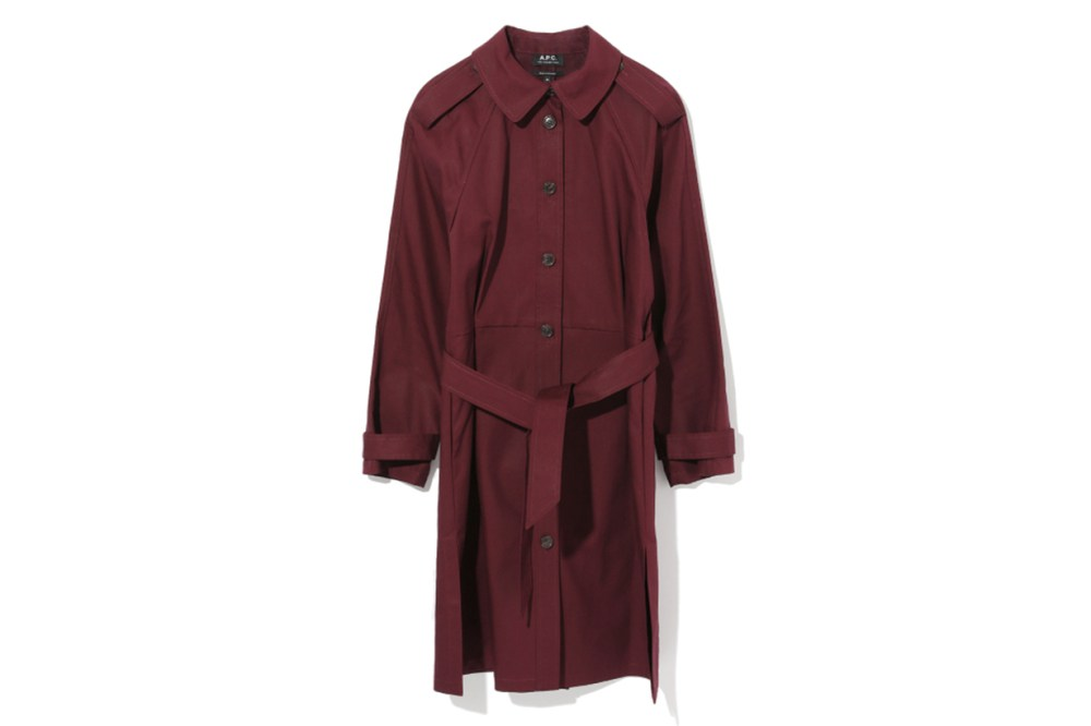 A.P.C. Single Breasted Trench Coat