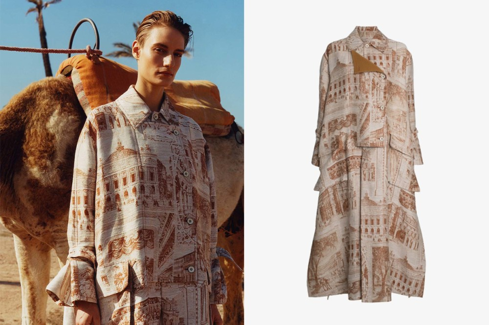 Acne Studios Printed Oversized Trench Coat