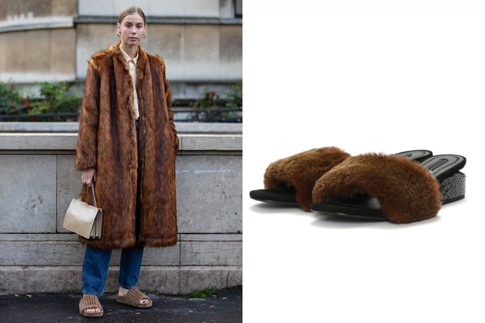 Alexander Wang Lou Fur Sandals