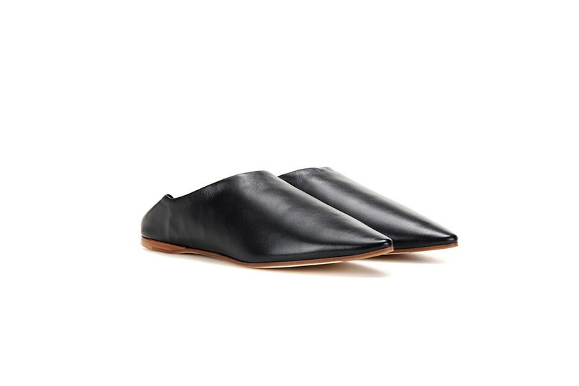 Acne Studios Amina Leather Babouche Slippers