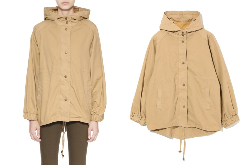 AS KNOW AS PINKY Button Down Parka Jacket