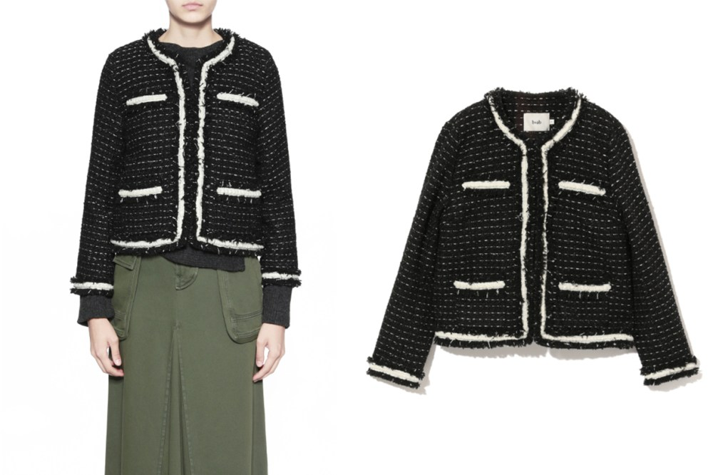 b+ab Frayed Tweed Jacket
