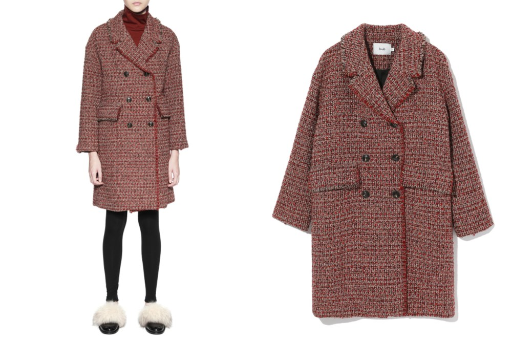 b+ab Tweed Double Breast Coat