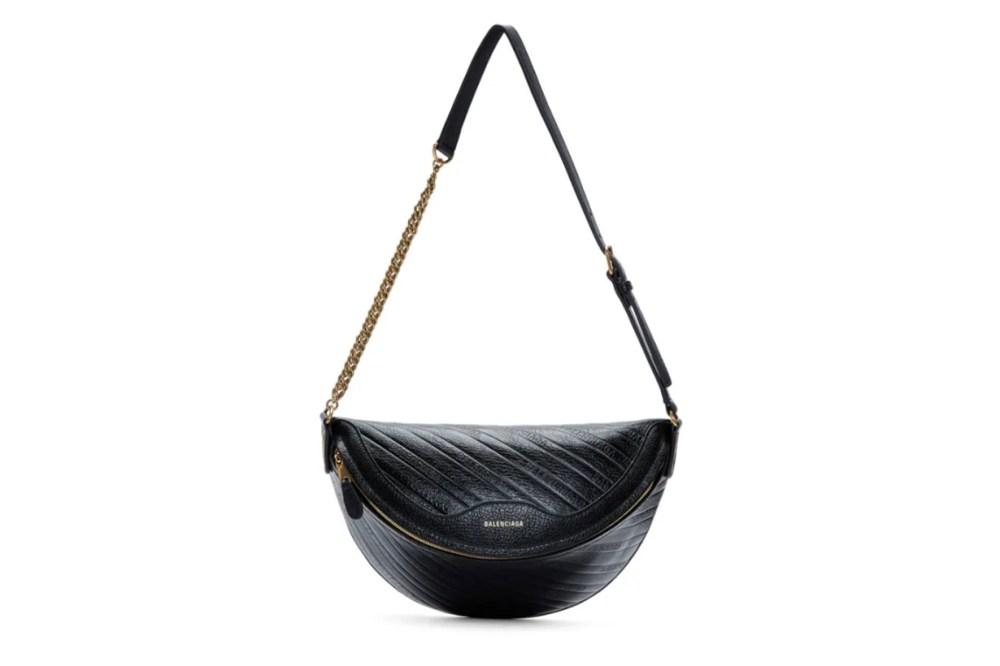 Balenciaga Black XS Logo Souvenir Bag