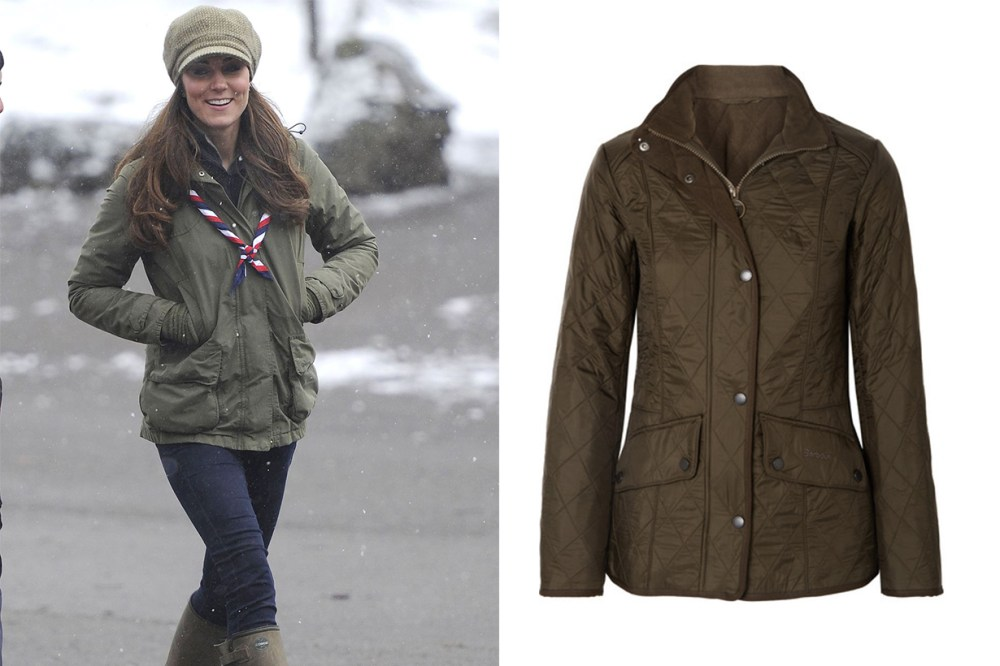 Kate Middleton Barbour Cavalry Quilted Shell Jacket