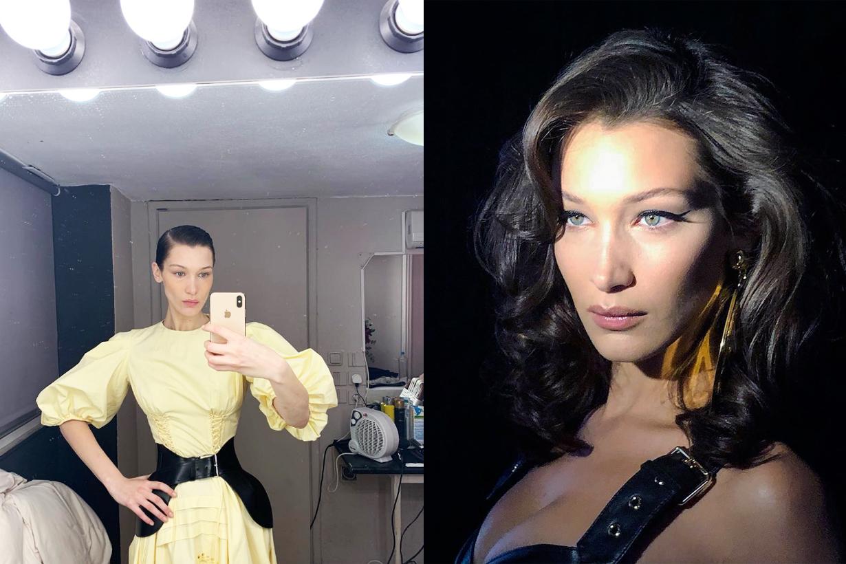 Bella Hadid Supermodels fashion weeks MFW NYFW PFW LFW 2019 backstage skincare 111 Skin Sub-zero De-puffing Eye Mask
