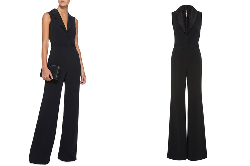Brandon Maxwell Shawl Collar Jumpsuit