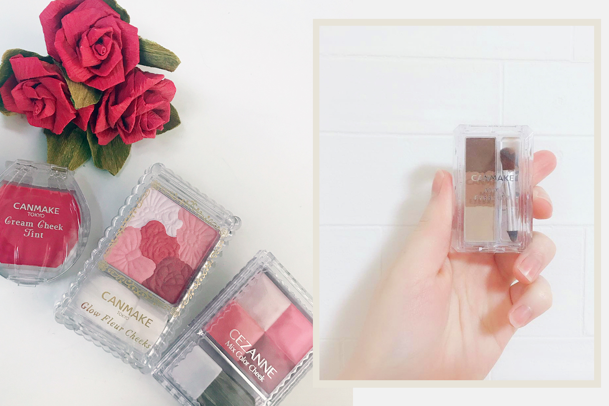 Canmake Tokyo Japanese Cosmetics Makeup Blush Eyeshadow palette eyeliner eyebrow powder lipgloss nail polish