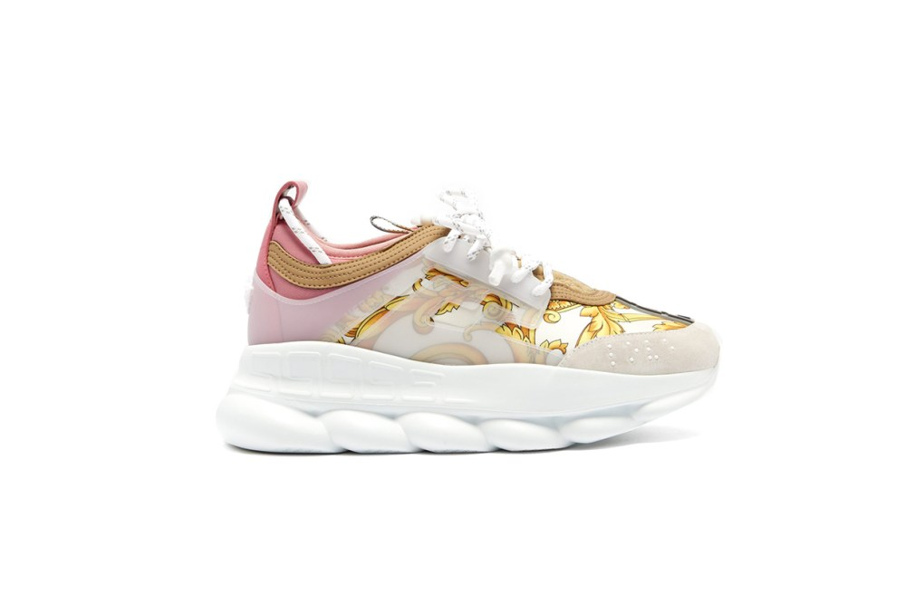 Versace Chain Reaction Baroque-Print Trainers