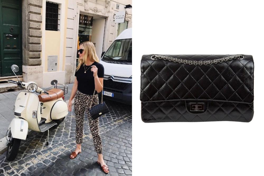 Chanel Black Patent Leather 2.55 Chanel Handbag