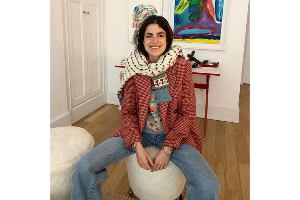 Blogger Leandra Cohen Mango Suit