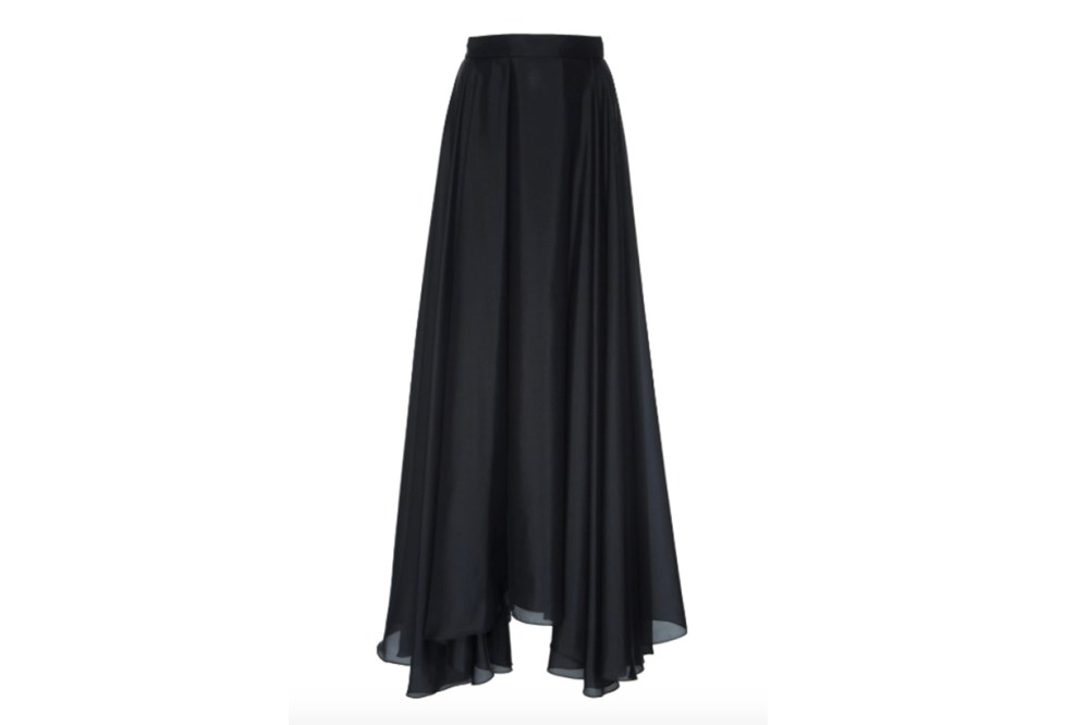 Prada Habotai Pleated Silk Full Skirt