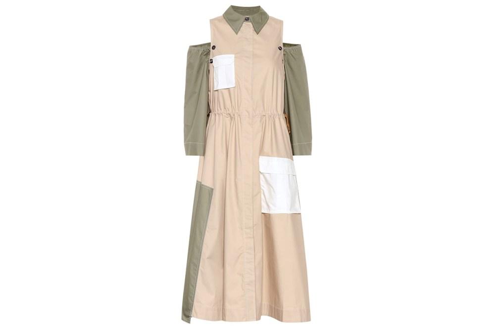 Cold Shoulder Cotton Midi Dress