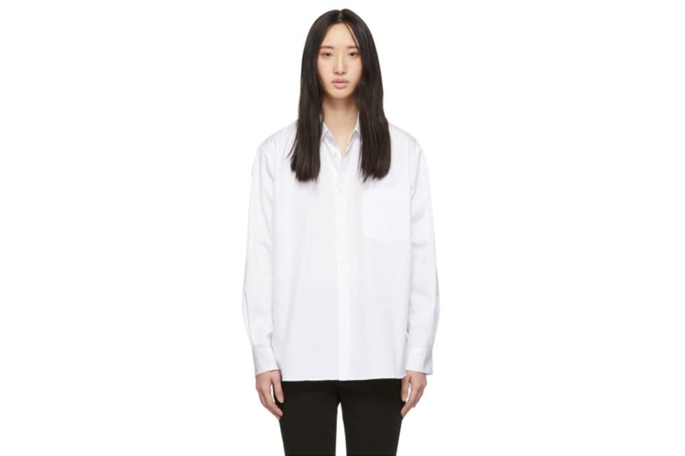 Comme des Garçons Shirt White Wide Fit Classic Shirt