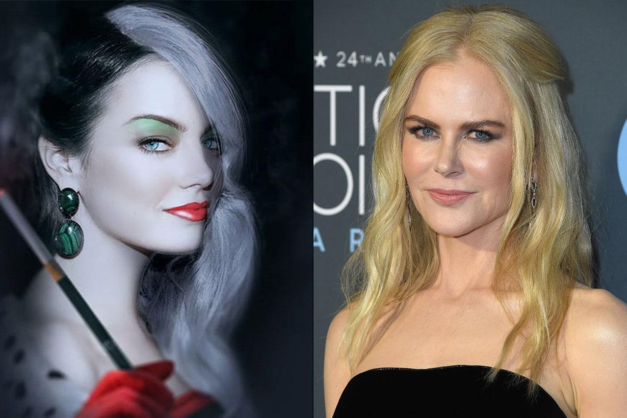Emma Stone Nicole Kidman Cruella Movie 2019