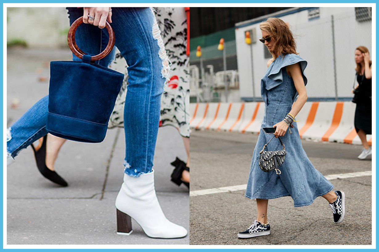3 denim items other than jeans and jacket