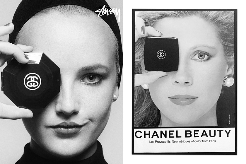 stussy Karl lagerfeld chanel beauty inspired spring 2019 campaign