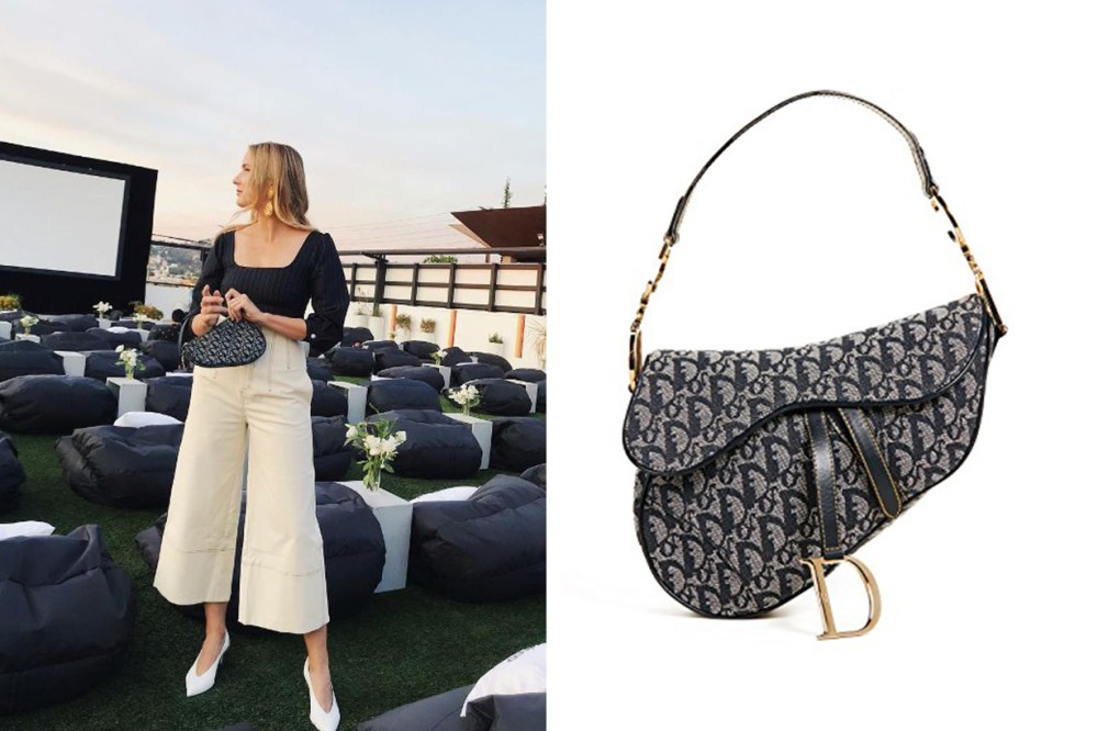 Dior Canvas Saddle Bag