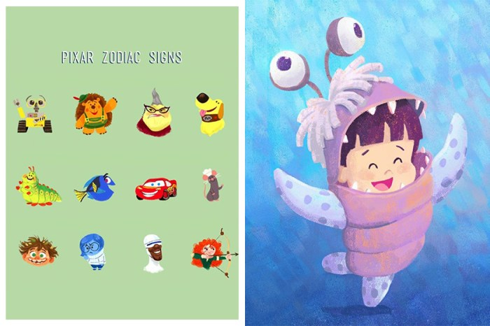 Pixar 公佈「12 星座」的卡通代表!你所屬的卡通人物性格、運程如何呢?