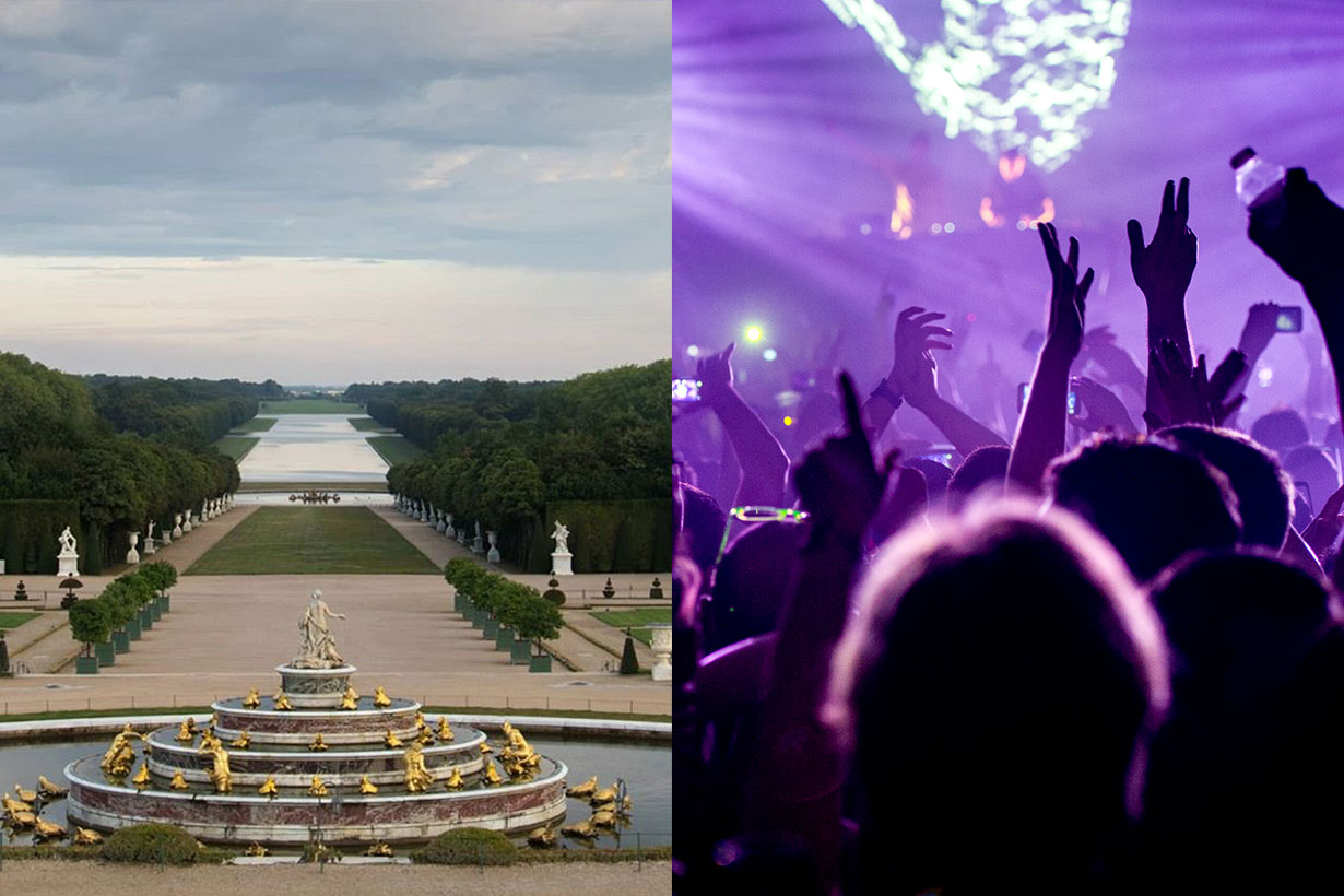the Palace of Versailles electronic music party 2019