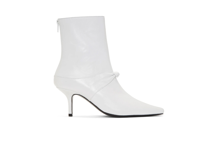 Dorateymur White Groupie Knot Boots