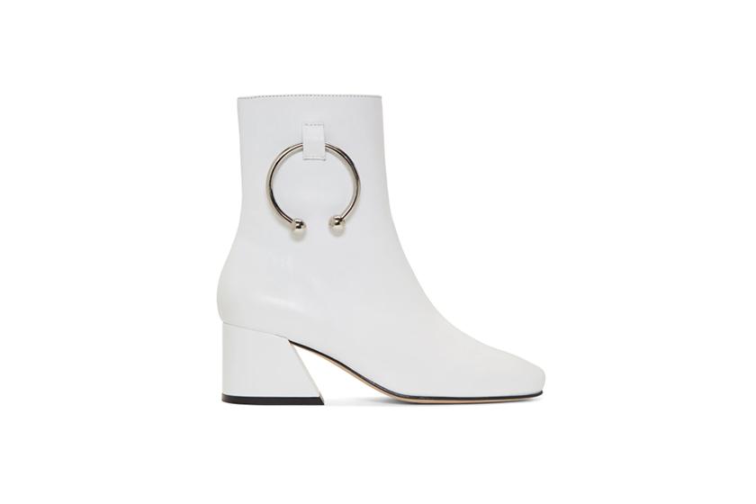 Dorateymur White Leather Nizip Boots