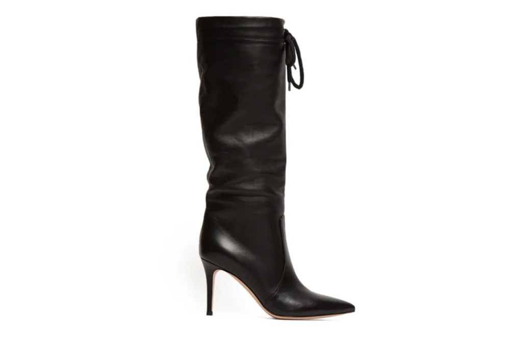 Gianvito-Rossi Drawstring Knee-high 85 Leather Boots