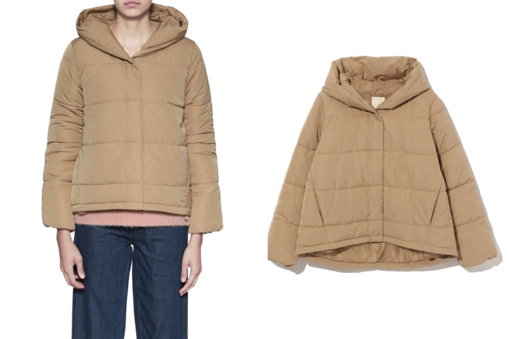 earth music&ecology Hooded Puffer Jacket
