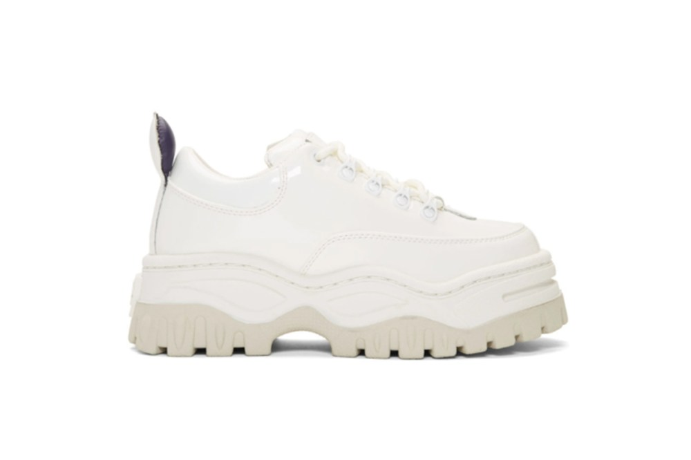 Eytys White Patent Angel Sneakers