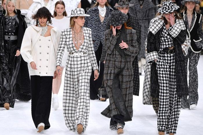 無不散的宴席:在老佛爺 Chanel 告別大秀上,模特兒更落下了難過的眼淚……