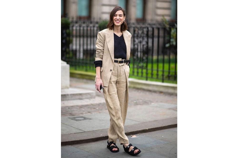 Alexa Chung Sporty Sandals Street Style
