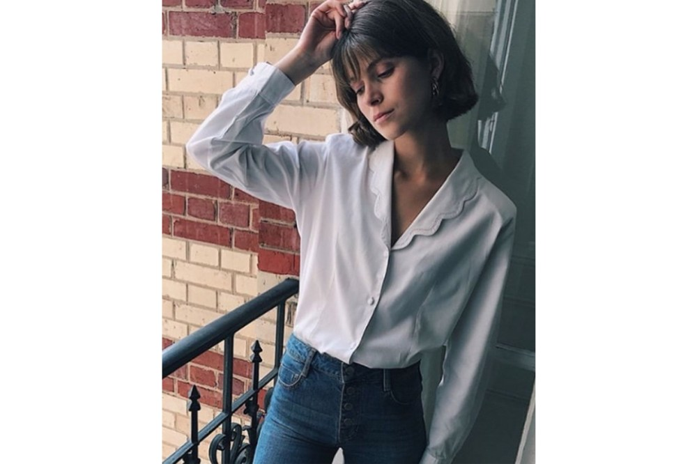 White Shirt Blouse Jeans French Style