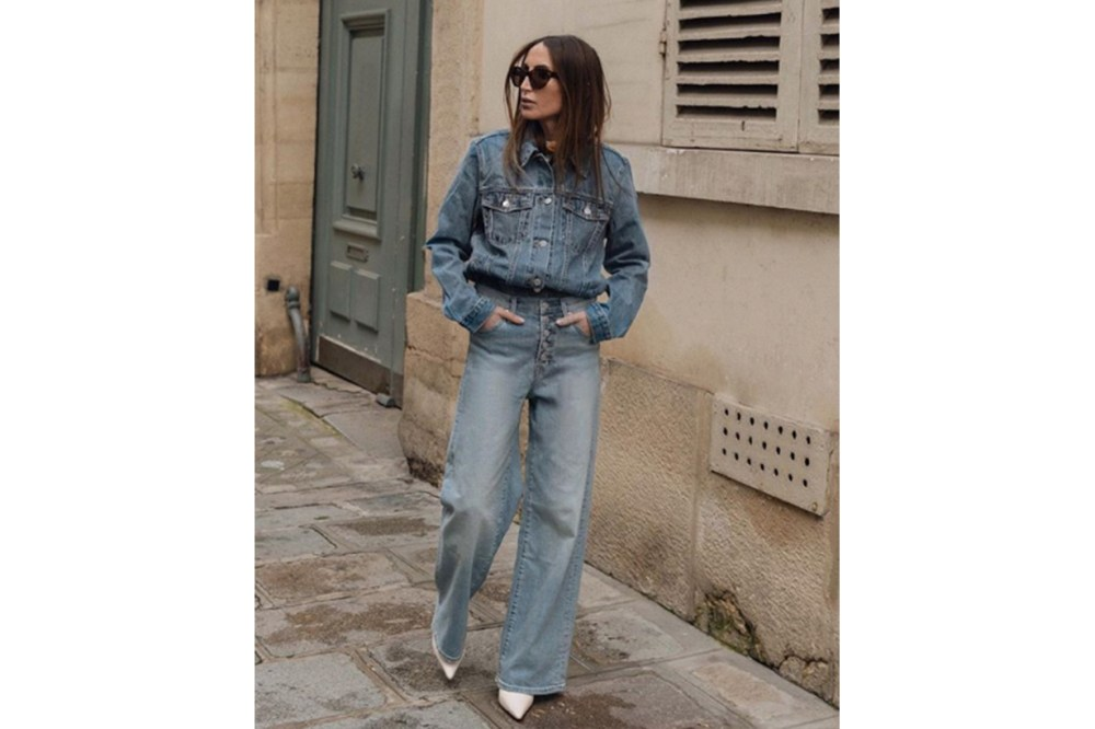 Denim On Denim Jacket Jeans Street Style