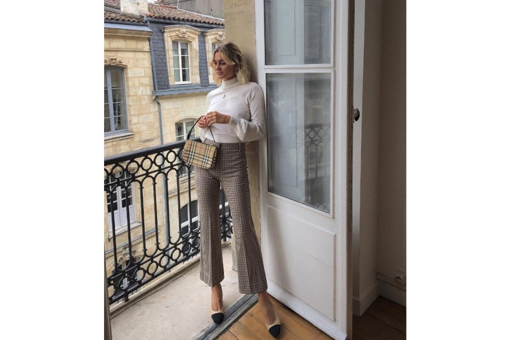 French Blogger Plaid Pants Style