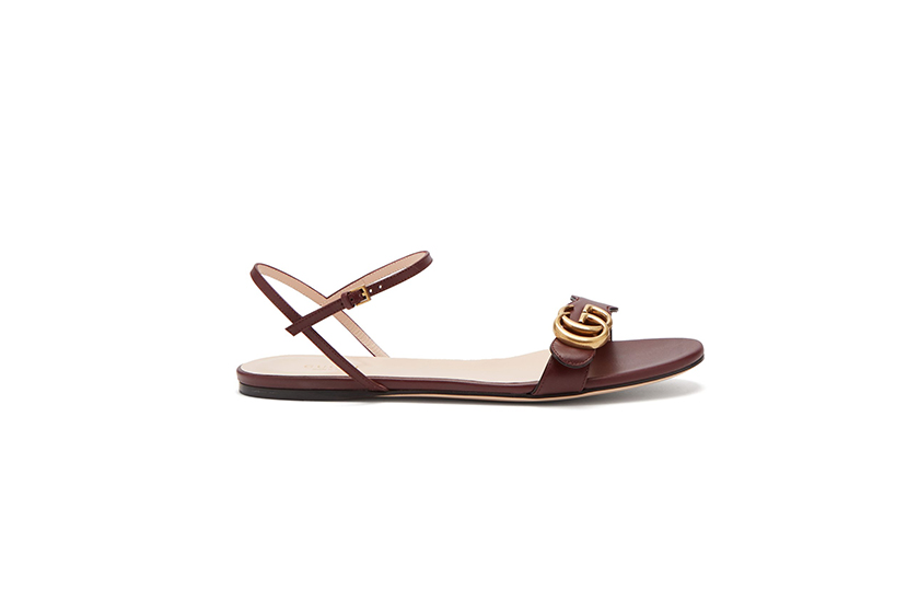 Gucci GG Marmont Leather Sandals