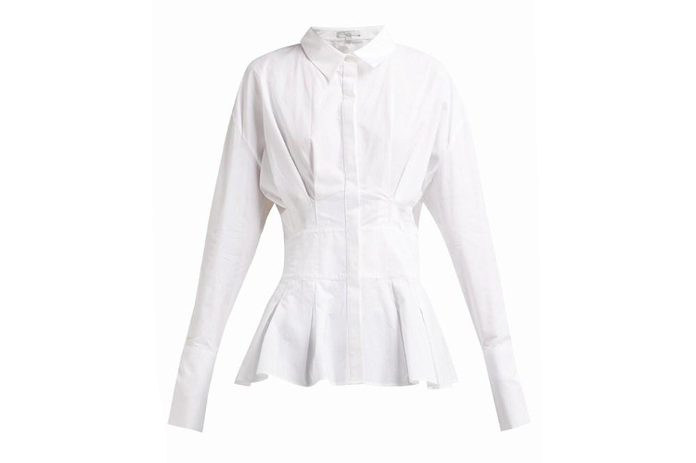White Story Gigi Cotton Peplum Shirt