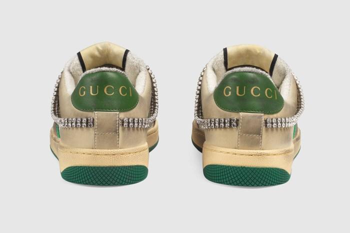 名牌就是任性!Gucci 推出「髒球鞋」,白鞋一下子就比下去!