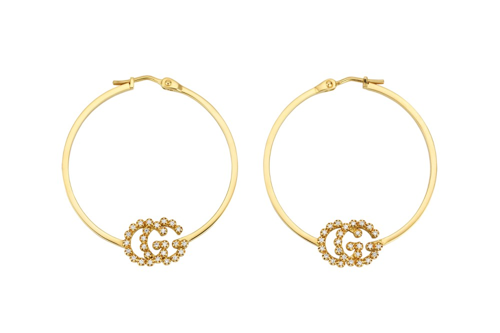 gucci gold hoop earring