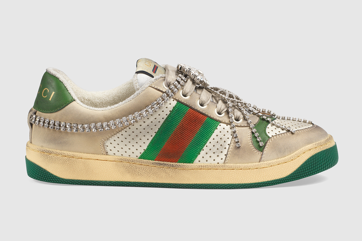 Gucci Screener trainers look dirty