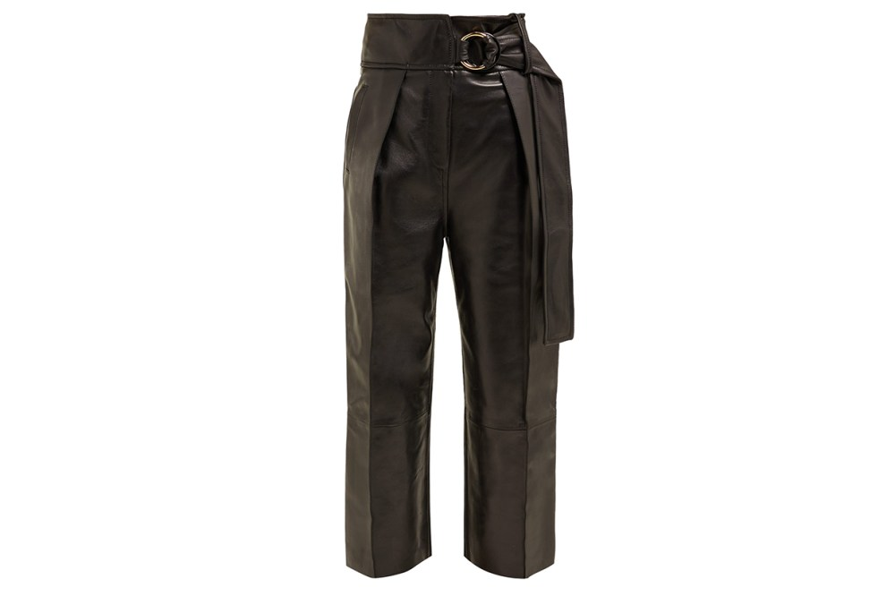 Petar Petrov Haena high-rise Leather Trousers