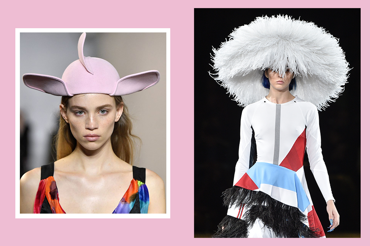 Paris Fashion Week is full of creative headgear