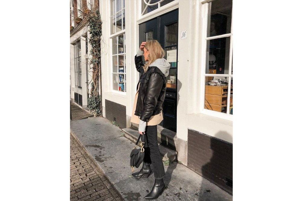 Leather Jacket Skinny Jeans Street Style