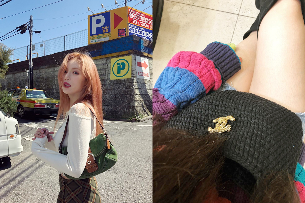 hyuna chanel handmade bags instagram mother