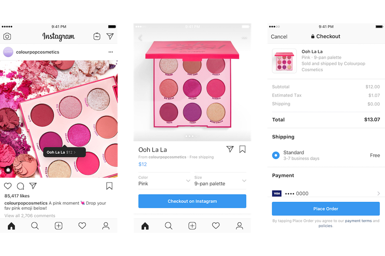 Instagram Launches Checkout In-App Purchasing Function